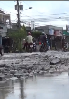 Cần Thơ: Đường Hoàng Quốc Việt xuống cấp, người dân bức xúc