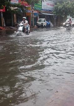 Ngập úng tuyến đường đang thi công tại Bà Rịa - Vũng Tàu