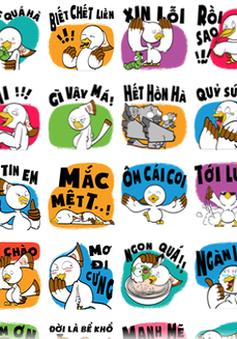 Bộ sticker thương hiệu Việt đầu tiên trên Facebook