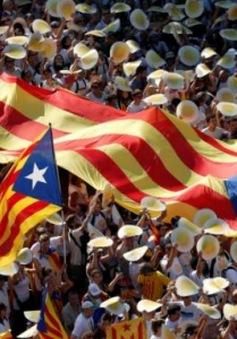Người dân xứ Catalan xuống đường ủng hộ tách khỏi Tây Ban Nha