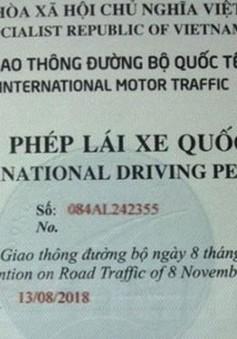 Bắt đầu cấp giấy phép lái xe quốc tế qua mạng
