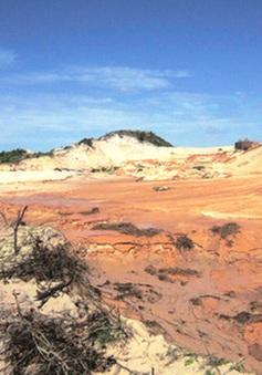 Kiểm tra sự cố vỡ hồ chứa nước đãi titan tại Bình Thuận