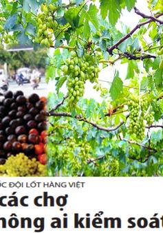 Tràn ngập hoa quả Trung Quốc gắn mác hàng Việt