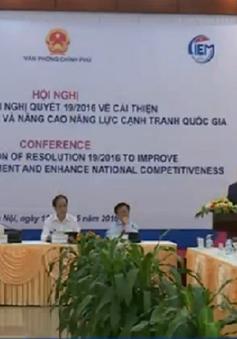 Tổ chức hội nghị Nâng cao năng lực cạnh tranh quốc gia