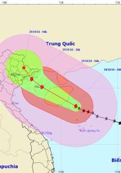 Bão số 7 cách quần đảo Hoàng Sa 190km, mạnh cấp 14