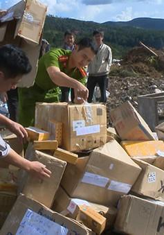 Tiêu hủy gần 100 mặt hàng không có nguồn gốc tại Lâm Đồng