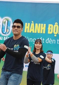 Tạ Quang Thắng nhảy flashmob, chạy bộ hưởng ứng Giờ Trái đất cùng 2.000 bạn trẻ