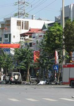Quảng Ninh: Taxi bất ngờ phát nổ, 2 người tử vong tại chỗ