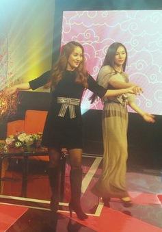 Khánh Thi dạy Minh Hà nhảy dance sport trong trường quay Alo Tết