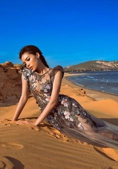 Hoa hậu Kỳ Duyên khoe dáng nuột nà trên bãi cát
