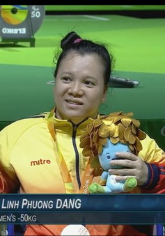 Paralympic Rio 2016: Lực sĩ cử tạ Đặng Thị Linh Phượng giành HCĐ hạng cân 50kg