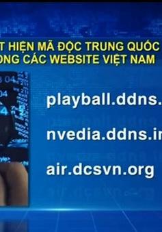 Phát hiện mã độc Trung Quốc trong các website Việt Nam