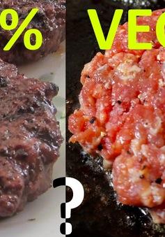 Độc đáo thịt làm từ rau
