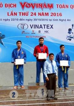 Thành phố Hồ Chí Minh giành Nhất toàn đoàn tại Giải vô địch Vovinam toàn quốc lần thứ 24 năm 2016