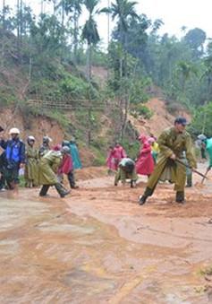 2 nhà dân bị sập hoàn toàn do mưa lớn ở Quảng Ngãi