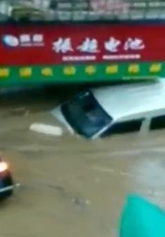 Trung Quốc: Mưa lớn bất thường, cuốn trôi nhiều ô tô