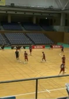 Futsal Việt Nam sẵn sàng cho trận tái đấu với Nhật Bản chiều nay
