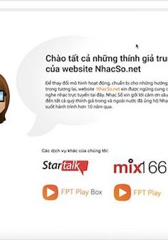 FPT Telecom chính thức đóng cửa nhacso.net
