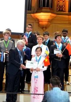 Nữ sinh Việt Nam đoạt giải đặc biệt tại Olympic Vật lí quốc tế năm 2016