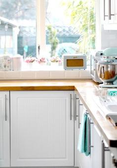 Hạ nhiệt căn bếp mùa hè bằng gam màu pastel