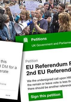 Thủ tướng Anh bác bỏ khả năng tiến hành trưng cầu dân ý lần 2