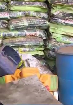 Phát hiện hơn 120 tấn phân bón không rõ nguồn gốc tại Gia Lai