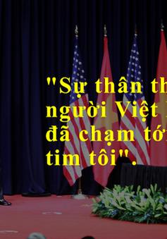 10 câu nói đáng nhớ của Tổng thống Obama trong bài phát biểu về quan hệ Việt–Mỹ