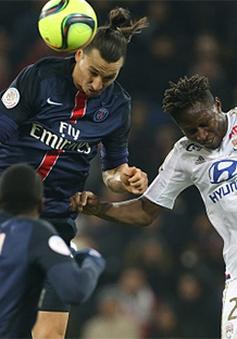 Ibrahimovic im tiếng, PSG thất bại trước Lyon