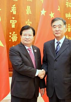Phó Thủ tướng Trịnh Đình Dũng hội kiến Phó Thủ tướng Trung Quốc