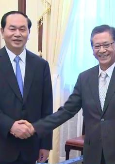 Chủ tịch nước Trần Đại Quang tiếp Đại sứ Nhật Bản đến chào từ biệt