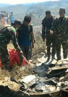 Rơi máy bay quân sự Indonesia, toàn bộ 13 người thiệt mạng