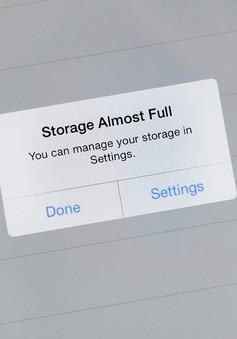 Mẹo giải phóng nhanh dung lượng bộ nhớ trên iPhone