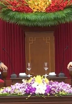 Tổng Bí thư tiếp Đại sứ Nhật Bản đến chào từ biệt