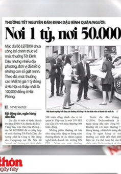 Thưởng Tết Nguyên đán Đinh Dậu: Nơi 1 tỷ, nơi 50.000 đồng