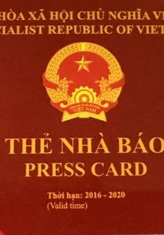Bộ Thông tin và Truyền thông ra quyết định thu hồi 4 thẻ nhà báo