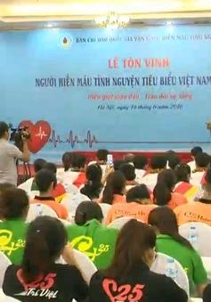 Tôn vinh 100 người hiến máu tiêu biểu