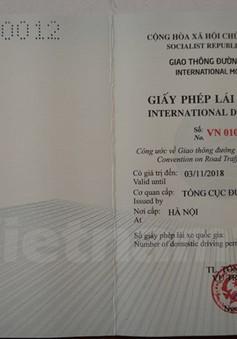 Hà Nội sẽ cấp giấy phép lái xe quốc tế từ ngày 1/3