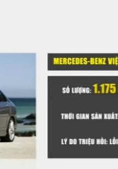 Mercedes Benz và GM triệu hồi xe tại thị trường Việt Nam