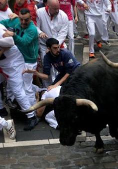 Ít nhất 10 người bị thương trong lễ hội rượt bò ở Tây Ban Nha