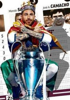 Ramos bước lên hàng ngũ những đội trưởng huyền thoại của Real Madrid