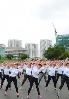 1.000 người đồng diễn thể dục mừng ngày Phụ nữ Việt Nam tại TP.HCM