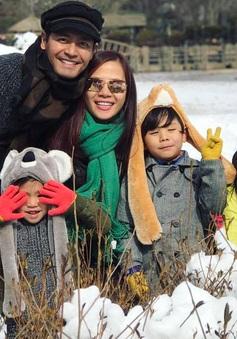 Gia đình MC Phan Anh cười hết cỡ trong chuyến du lịch Hàn Quốc
