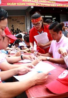 Hành trình đỏ 2017 đã di chuyển qua 7 tỉnh thành