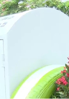 TP. HCM lắp đặt thùng rác trồng cây thông minh tại phố Nguyễn Huệ