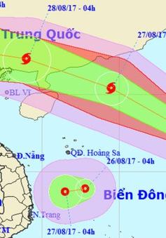 Bão số 7 đi nhanh theo hướng Tây Bắc, áp thấp nhiệt đới hướng vào Nam Trung Bộ
