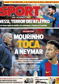 Mourinho bí mật dụ dỗ Neymar về Man Utd?