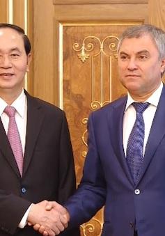 Chủ tịch nước Trần Đại Quang hội kiến Chủ tịch Duma Quốc gia Nga