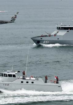 Hải quân Indonesia - Philippines - Malaysia diễn tập chung