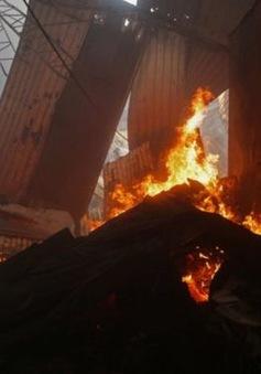 Cháy khu chợ lớn nhất ở Nicaragua, thiêu rụi 60 cửa hàng