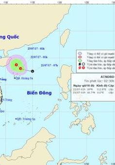 Trong 24 giờ tới, áp thấp nhiệt đới có khả năng mạnh thêm